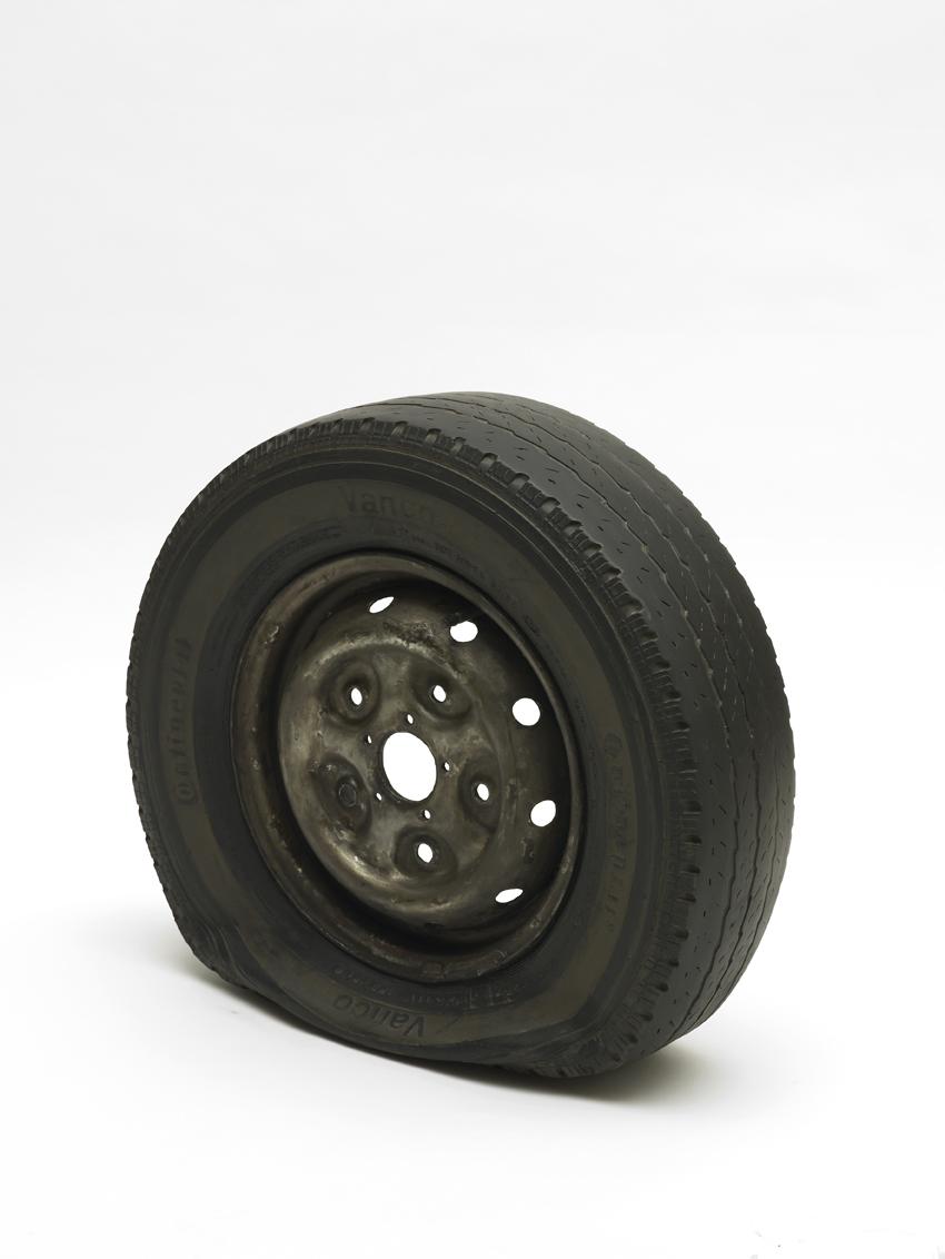 Gavin-Turk-Flat-Tyre-Newport-Street-Gallery-London