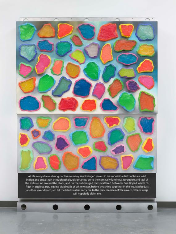ashley-bickerton-wall-wall-triptych-from-ornamental-hysteria-exhibition-at-newport-street-gallery-london