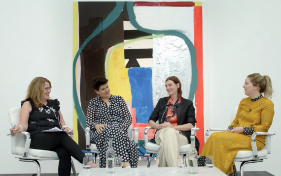 Video-Sue-Hubbard-in-conversation-with-Helen-Beard-Sadie-Laska-Boo-Saville-at-Newport-Street-Gallery